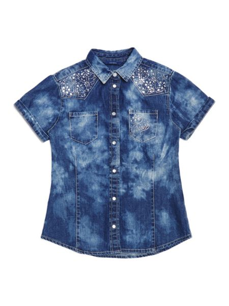 Jeansbluse Strass - Guess