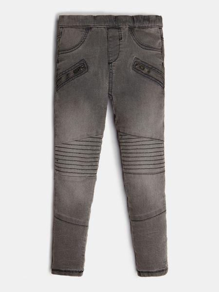 Jeans-Jeggings Reißverschlüsse Vorn | Bekleidung > Jeans > Jeggings | Grau | Jeans - Baumwolle - Polyester | Guess