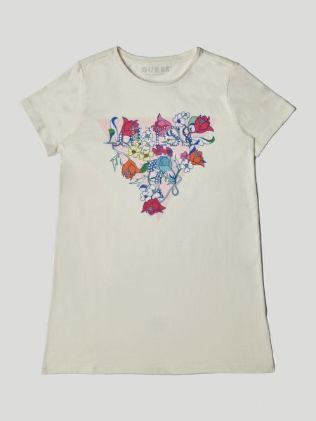 Imagen principal de producto de Camiseta Triángulo Logo Flores - Guess