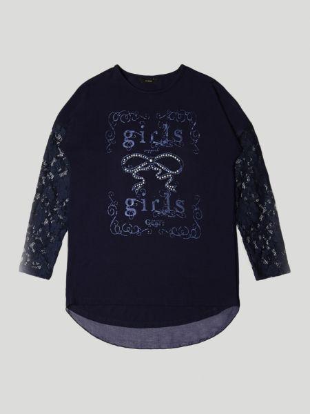 Imagen principal de producto de Camiseta Mangas Encaje Estampado - Guess
