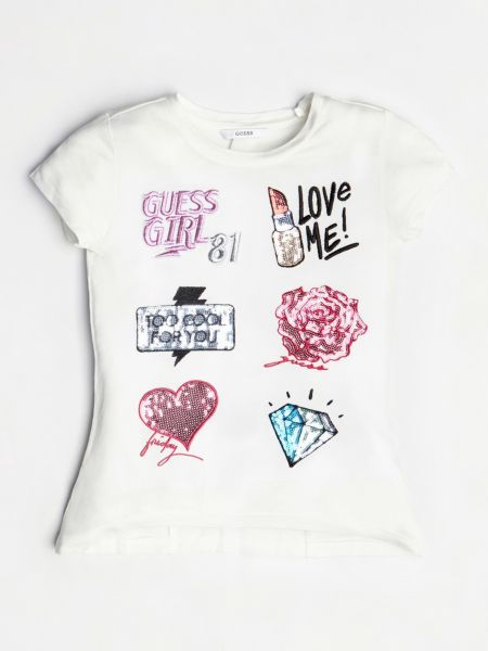 Imagen principal de producto de Camiseta Aplicaciones Frontales - Guess