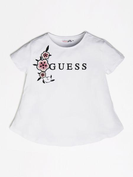Imagen principal de producto de Camiseta Logotipo Frontal Flores - Guess