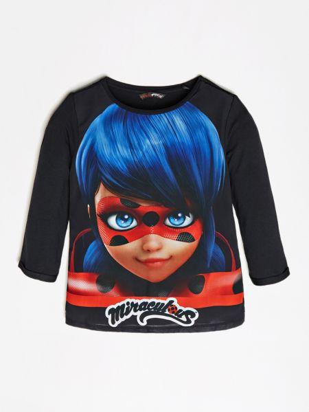 Imagen principal de producto de Camiseta Con Maxiestampado Frontal - Guess