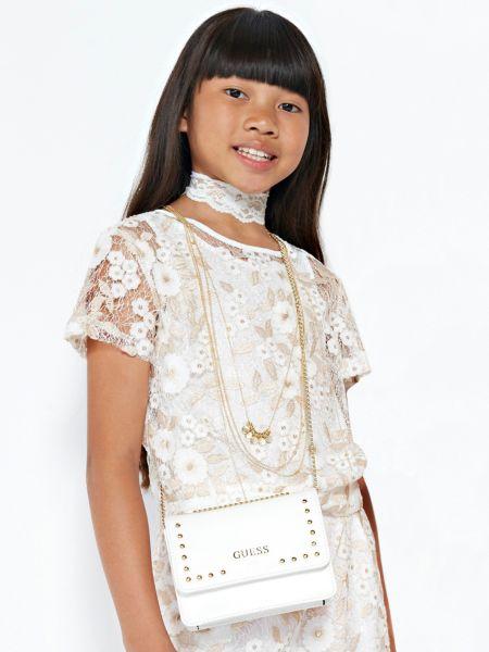 Jeansbluse Blumen-Stickerei | Bekleidung > Blusen > Jeansblusen | Gemustert multicolor | Guess