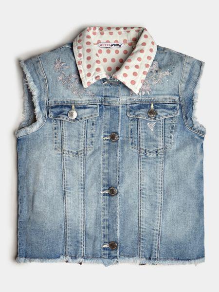 Jeansweste Used-Optik | Bekleidung > Westen > Jeanswesten | Himmelblau | Baumwolle | Guess