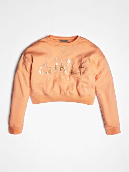Sweatshirt Frontprint | Bekleidung > Sweatshirts & -jacken > Sweatshirts | Orange | Guess