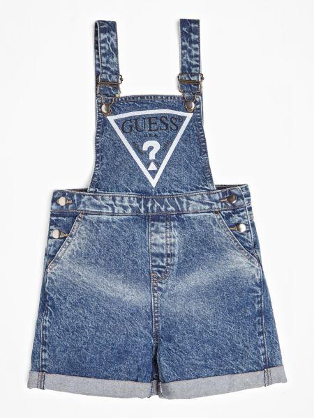 Jeans-Latzhose Used-Optik Logo   Bekleidung > Jeans > Latzjeans   Blau   Jeans   Guess