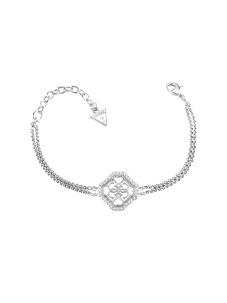 Guess 4 you 4g pave rhodium-plated bracelet.