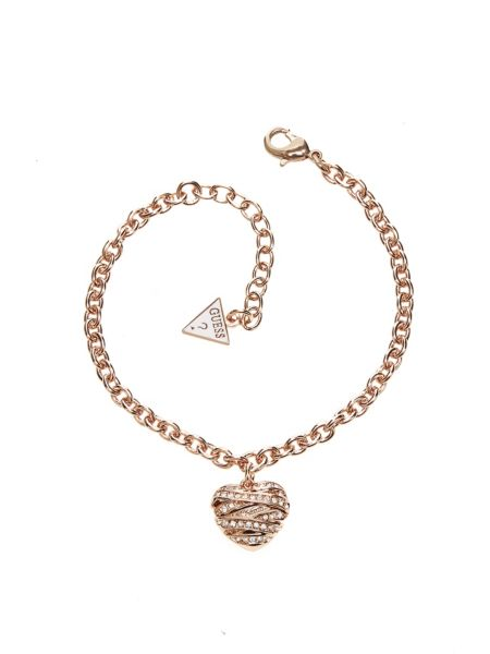Wrapped with love small heart rose gold-plated bracelet.