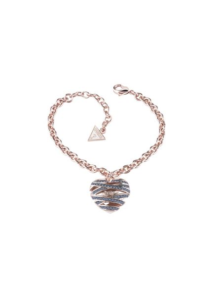 Wrapped with love medium heart rose gold-plated bracelet.