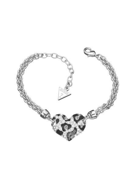 Feline instinct mini leo heart bracelet.