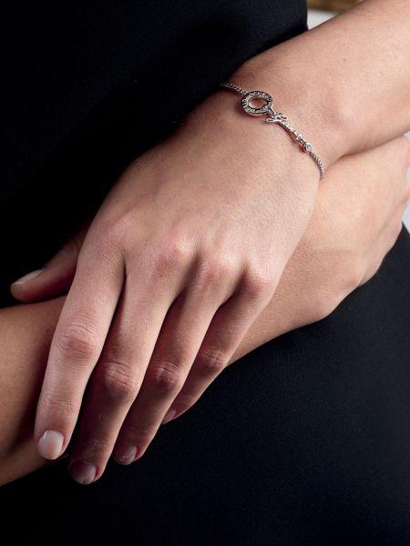 Bracelet around the world rhodié