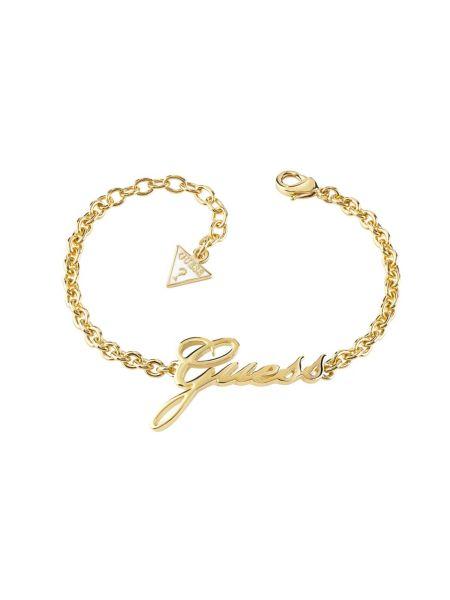 Bracelet avec logo plaqué dor jaune