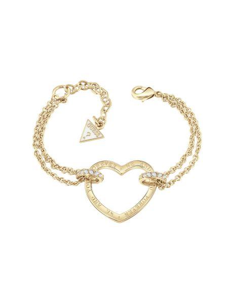 Bracelet avec cur plaqué dor jaune