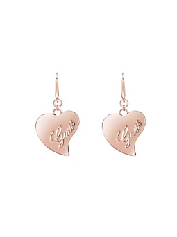 GUESS LOVE ROSE GOLD PLATED EARRINGS