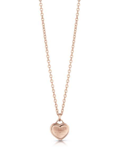 Halskette Follow My Charm Herz | Schmuck > Halsketten > Herzketten | Rose goldenfarbe | Guess