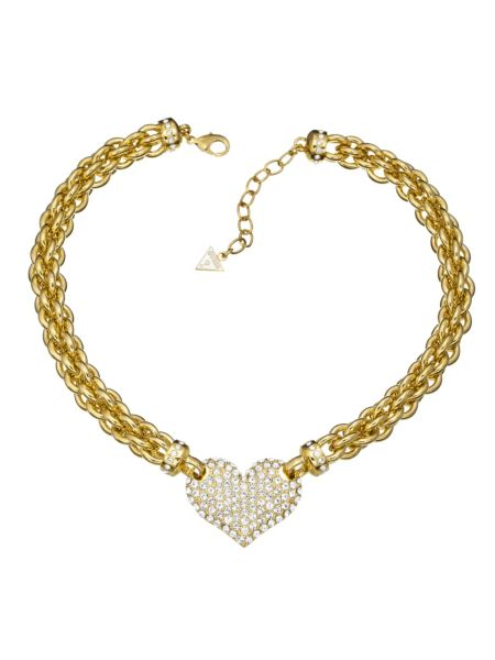 Basic instinct heart chain gold-plated necklace.