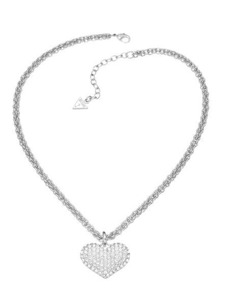 Basic instinct heart chain pendant necklace.