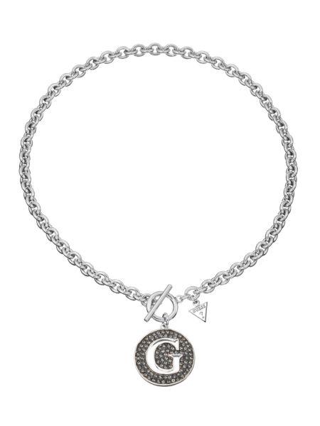 G girl large black pave g pendant necklace.