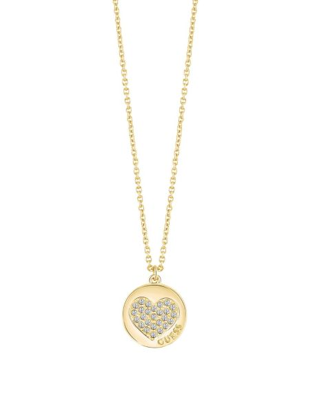Collier long heart devotion plaqué dor jaune