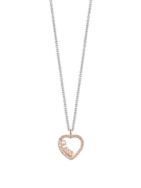 Collana Love Affair Cuore Placcato In Oro Rosa