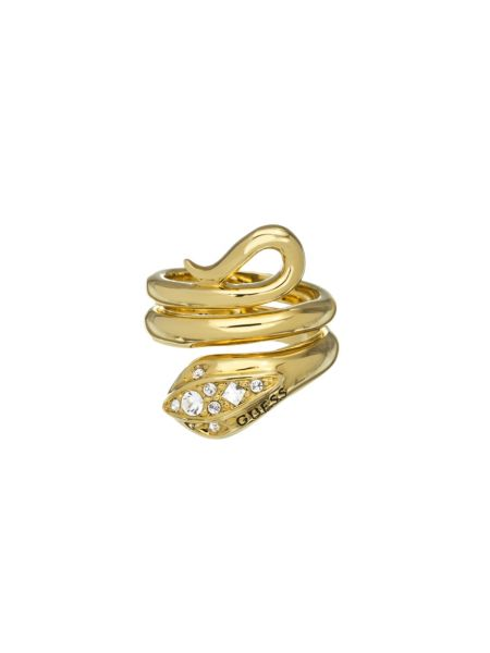 Original sin gold plated serpent jeweled ring.