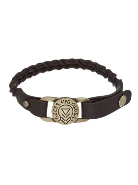 Braid leather bracelet.