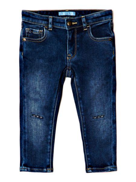 Jeans Strappi Fiori