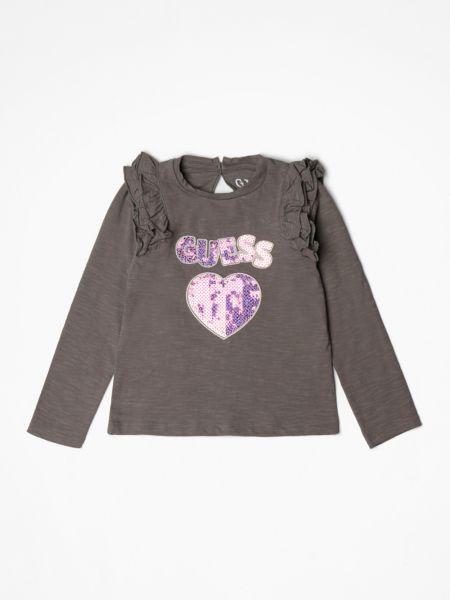 Imagen principal de producto de Camiseta Logo Frontal Brillantina - Guess