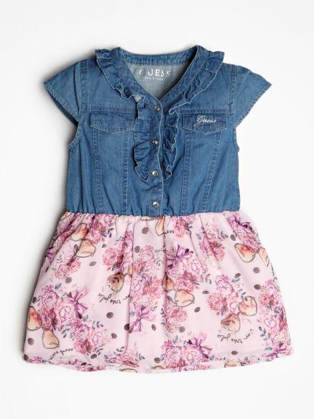 Jeanskleid Rock Mit Print | Bekleidung > Kleider > Jeanskleider | Mehrfarbig -  grundton blau | Guess