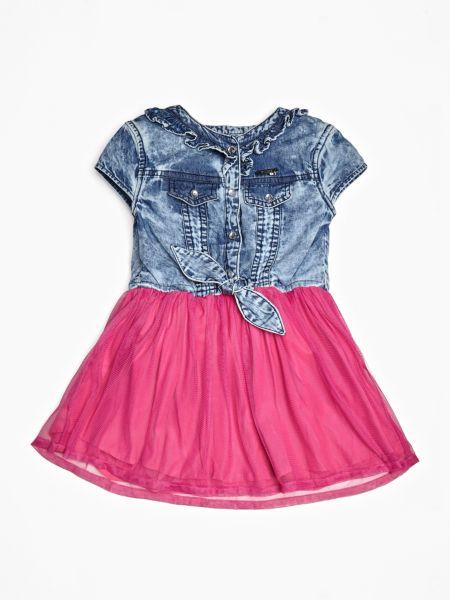 Jeanskleid Tüllrock | Bekleidung > Kleider > Jeanskleider | Mehrfarbig -  grundton blau | Guess