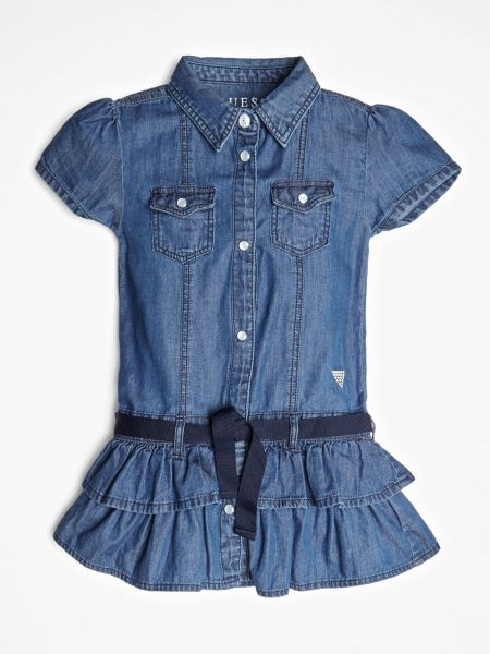 Jeanskleid Gürtel Auf Taillenhöhe - Guess