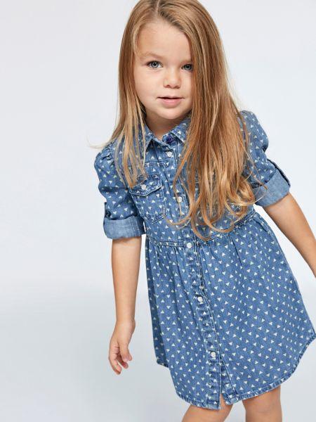 Jeanskleid Geometrisches Muster   Bekleidung > Kleider > Jeanskleider   Mehrfarbig -  grundton blau   Guess