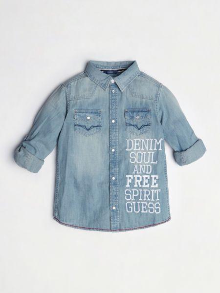 Imagen principal de producto de Camisa Vaquera Bordado - Guess
