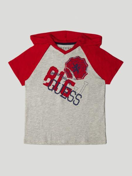 Imagen principal de producto de Camiseta Logo Frontal Capucha - Guess