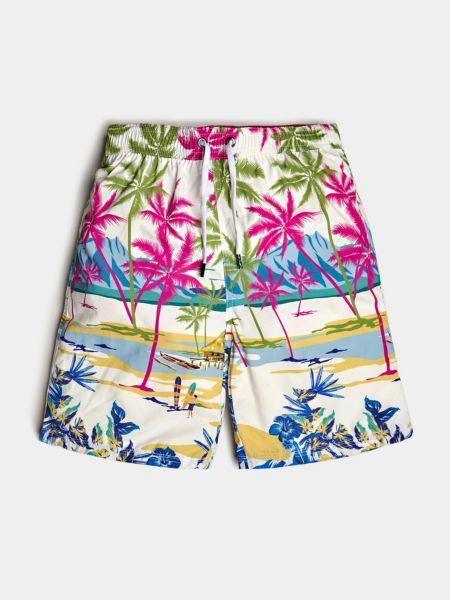 Guess - Shorts De Bain Imprimé Palmiers - 1