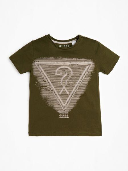 T-Shirt Logoprint Vorne   Bekleidung > Shirts > T-Shirts   Dunkelgrün   Guess