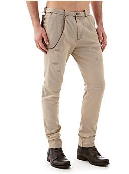 Pantalon Slim Coton Stretch Taille Basse
