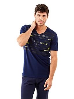 T-shirt en coton avec lettrage imprimé