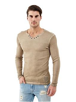 T-Shirt Coton Effet Mélange