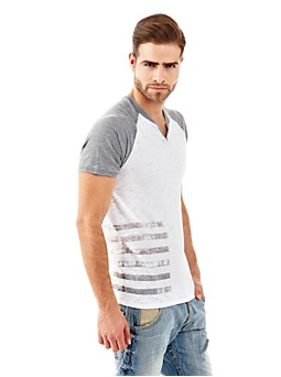 Myer constrast sleeves t-shirt