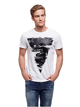 T-shirt en coton avec maxi triangle