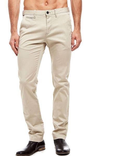 Pantalon modèle chino en coton stretch