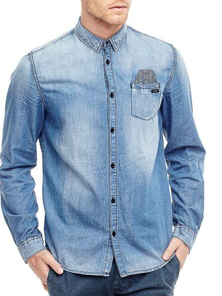 Chemise en jean poche de poitrine