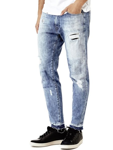 Jeans Tapered Strappi