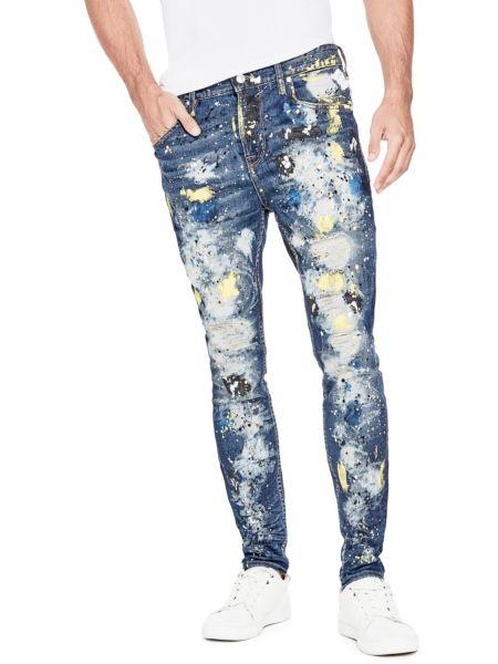 Jeans Effetto Vernice