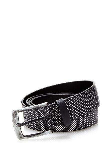 Cintura Con Micro Borchie In Pelle