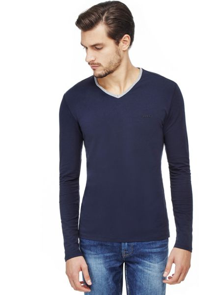 T-shirt With Trimmed Neckline