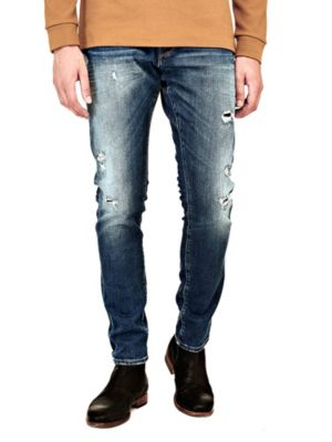 Jeans Slim Effetto Used