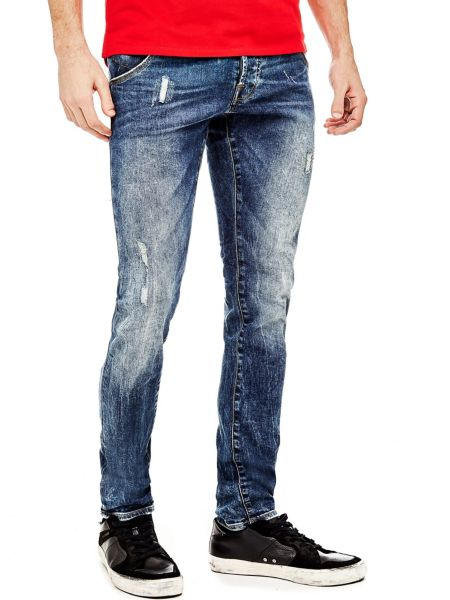 Jeans A Sigaretta Abrasioni